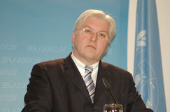 Frank Walter Steinmeier royalty-vrije stock afbeelding