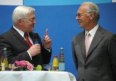 Frank Walter Steinmeier and Franz Beckenbauer Royalty Free Stock Photo