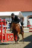 Franke Sloothaak riding Amos - show jumping Stock Photo
