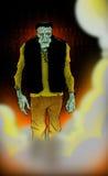 frankeinstein halloween шаржа Стоковые Изображения