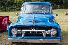 Franken, Alemania, el 21 de junio de 2015: Detalle delantero de un coche del vintage de Ford Fotografía de archivo libre de regalías