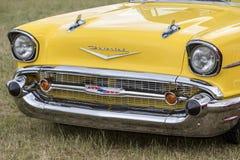 Franken, Alemania, el 21 de junio de 2015: Detalle delantero de un vint de Chevrolet Fotografía de archivo