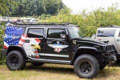 Franken, Deutschland, am 21. Juni 2015: Amerikanisches Muskelauto Stockbilder