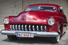 Franken, Duitsland, 21 Juni 2015: Voordetail van 1951 Mercury Cou Royalty-vrije Stock Fotografie