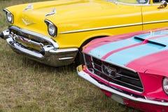 Franken, Germania, il 21 giugno 2015: Dettagli anteriori dell'automobili d'annata Immagine Stock Libera da Diritti