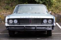 Franken, Germany, 21 June 2015: American vintage car, close-up of Chrysler front detail Royalty Free Stock Images