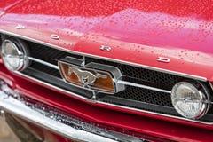 Franken, Germany, 21 June 2015: American vintage car, close-up Stock Image