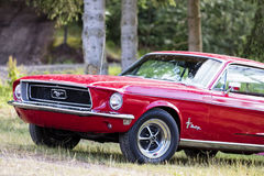 Franken, Germany, 21 June 2015: Front detail of a Ford Mustang v Stock Images