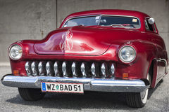 Franken, Germany, 21 June 2015: Front detail of 1951 Mercury Cou Royalty Free Stock Photography