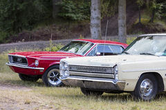 Franken, Germany, 21 June 2015: Front detail of a Plymouth vinta Royalty Free Stock Photo