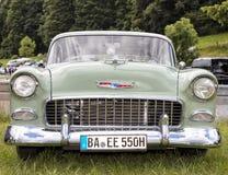 Franken, Germany, 18 June 2016: Front detail of a US vintage car Stock Images