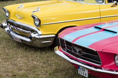 Franken, Germany, 21 June 2015: Front view of a Ford Mustang vin Stock Photography
