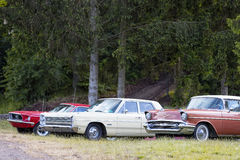 Franken, Germany, 21 June 2015: US Classic Cars Stock Photos