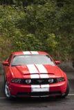 Franken Tyskland, 21 Juni 2015: USA-tappningbil, Ford Mustang Arkivfoto