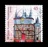 Frankenberg (Eder), 500. årsdag av Frankenberg Hall serie, Royaltyfri Fotografi
