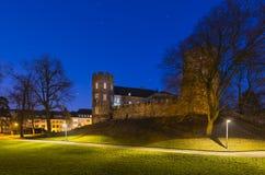 Frankenberg kasztel Przy nocą, Aachen Obraz Stock