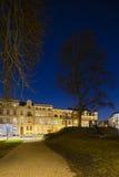 Frankenberger Viertel alla notte, Aquisgrana Immagini Stock