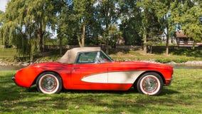 Frankenmuth Autofest '15 - van 1957 het Korvet van Chevrolet Stock Afbeeldingen