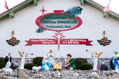 Bronners Christmas Wonderland In Frankenmuth. Frankenmuth, Michigan, USA - October 9, 2018: Exterior of Bronner`s Christmas Wonderland in Frankenmuth Bronner`s stock photo