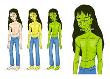 Frankenstein charakter Halloween Zdjęcie Stock