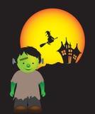 Frankenstein cute scene Royalty Free Stock Image