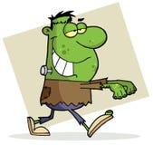Frankenstein de veille de la toussaint de personnage de dessin animé Photo stock