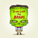 Frankenstein. Do not lose the brains. Stock Image
