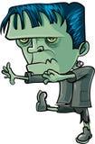 Frankenstein dos desenhos animados que marcha para a frente Foto de Stock Royalty Free