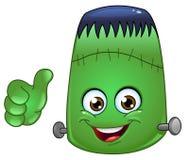 Frankenstein emoticon royalty-vrije illustratie