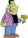 Frankenstein with flowers Royalty Free Stock Photos