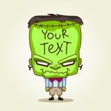 Frankenstein. Halloween-Karikaturillustration für t Stockbilder