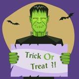 Frankenstein Holding Banner Stock Image