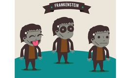 Frankenstein. Icon vector background wallpaper royalty free illustration