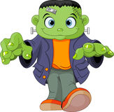 Frankenstein kid Royalty Free Stock Image