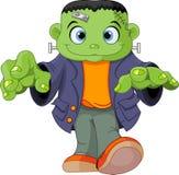 Frankenstein kid. Halloween kid wearing Frankenstein costume Royalty Free Stock Image