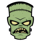 Frankenstein Monster. Cartoon illustration of Dr. Frankenstein's living dead zombie monster vector illustration