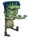 Frankenstein monster cartoon. Cartoon illustration of the Frankenstein monster created by Mary Shelley in her novel where a scientist creates a monster from Stock Image