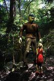 Frankenstein Monster and little girl Royalty Free Stock Photo