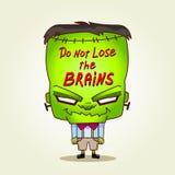 Frankenstein. No pierda los cerebros. stock de ilustración