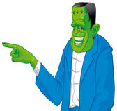 Frankenstein pointing something Royalty Free Stock Photo