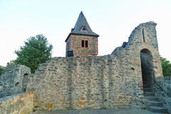 Frankenstein's castle. Front view of Frankenstein castle near Darmstadt in Germany Royalty Free Stock Photography