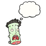 Frankenstein's monster head cartoon Royalty Free Stock Photos