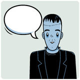Frankenstein and speech bubble Stock Images