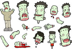 Frankenstein Vector Set Stock Photography