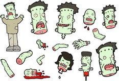Frankenstein Vector Set Stock Photography