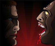 Frankenstein versus Vampire Stock Photo