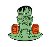 Frankenstein w dumbbells Zdjęcia Royalty Free