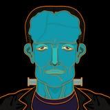 Frankensteinportret Stock Afbeelding