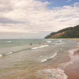 Frankfort Michigan Beach Royalty Free Stock Photography