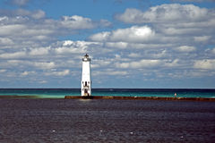 Frankfort, Michigan, farol Fotografia de Stock